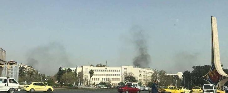 صور تظهر اثار القذائف والحرائق