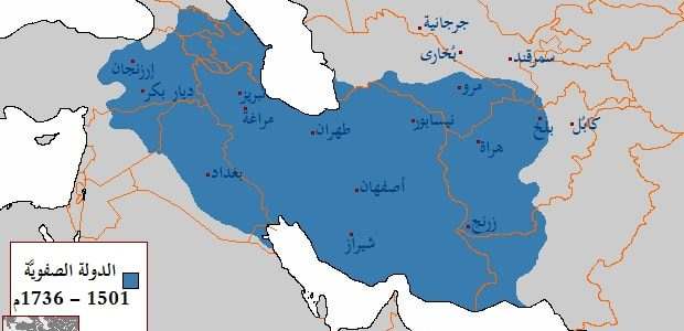 خريطة ايران تظهر اسماء الولايات